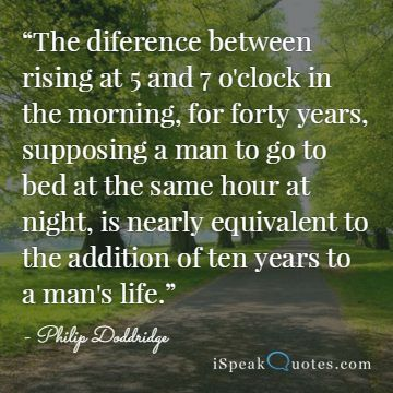 The difference between rising at five quote